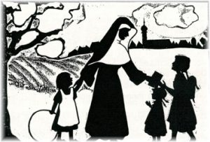 Scherenschnitt Klosterfrau